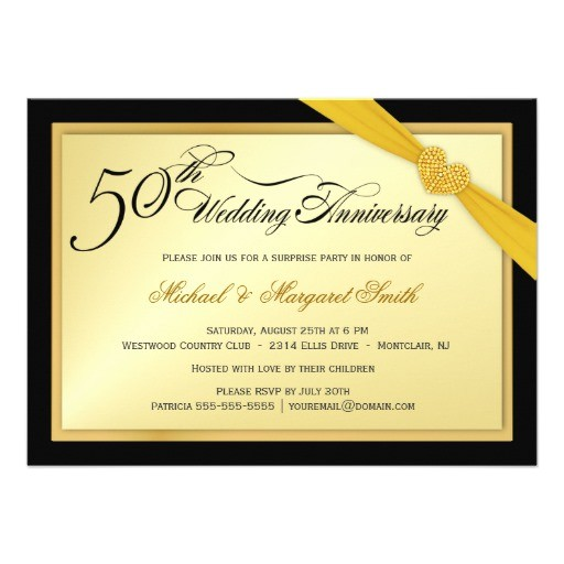 50th wedding anniversary surprise party invitation 161157710762246057