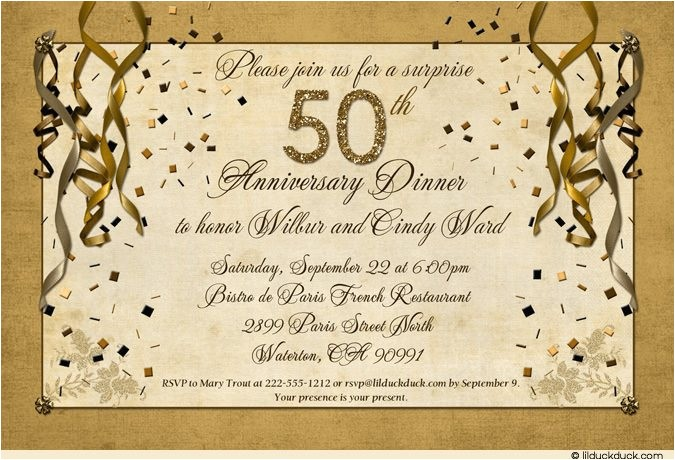 festive 50th anniversary party invitation