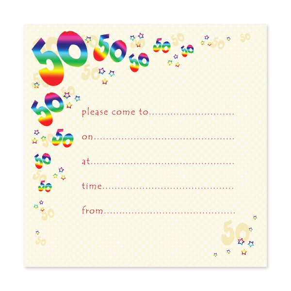 blank 50th birthday party invitations templates