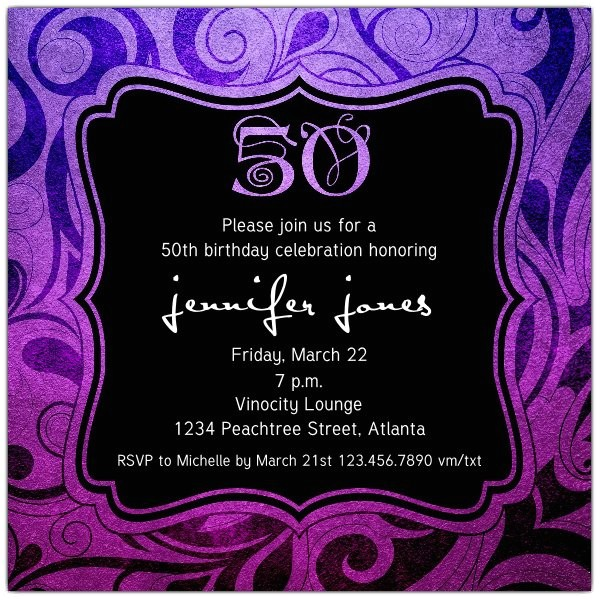 brilliant emblem 50th birthday party invitations p 615 55 263