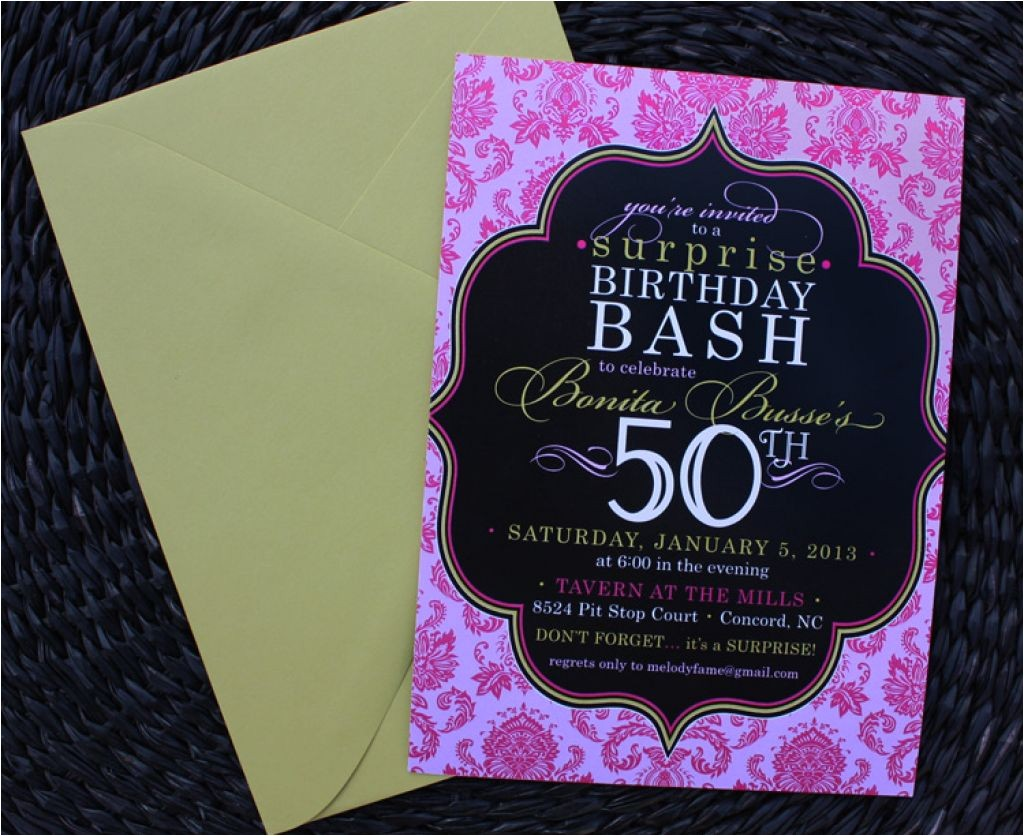 party invitations 50th birthday