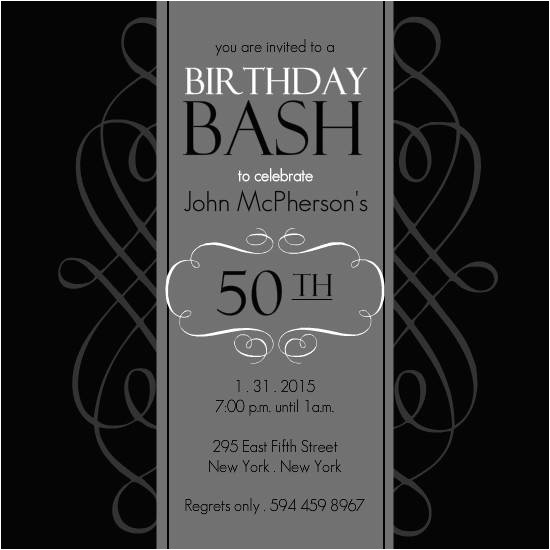 50th birthday invitation templates respond
