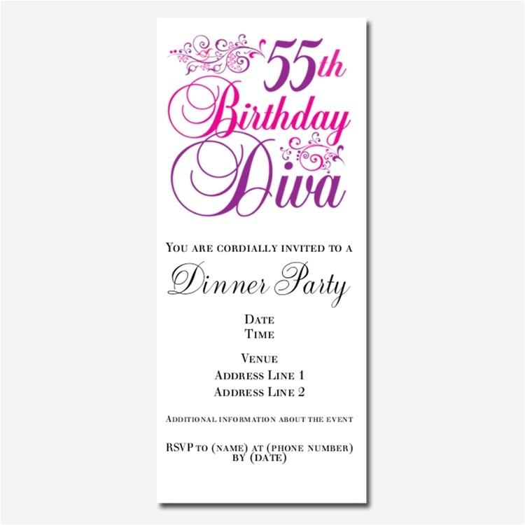happy 55th birthday invitations