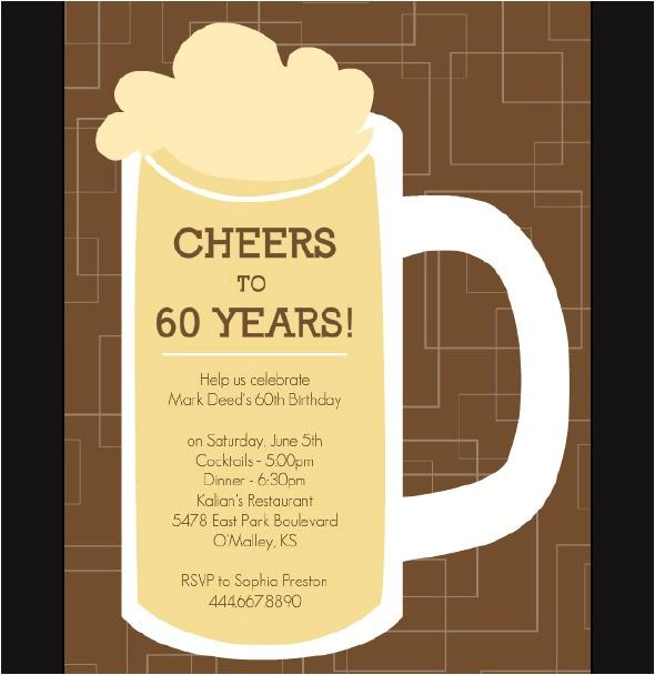 60th Birthday Party Invitation Templates Free Download 50 Printable Birthday Invitation Templates Sample Templates