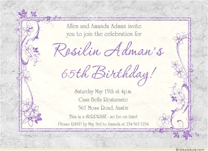 birthday retirement party invitation