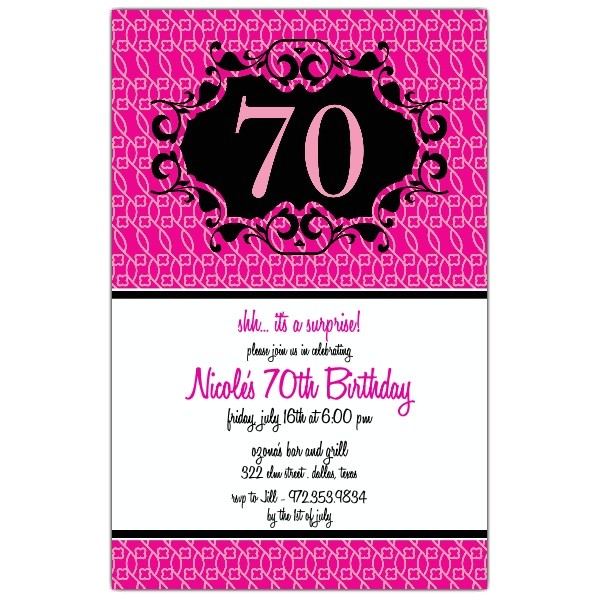 70 birthday invitations templates