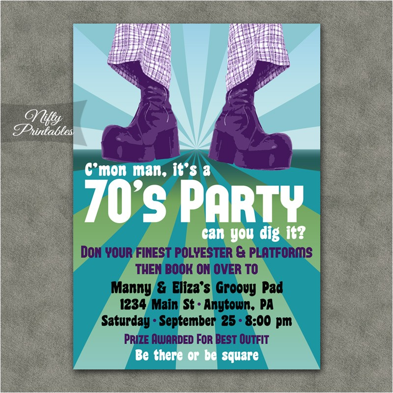 70s party invitation