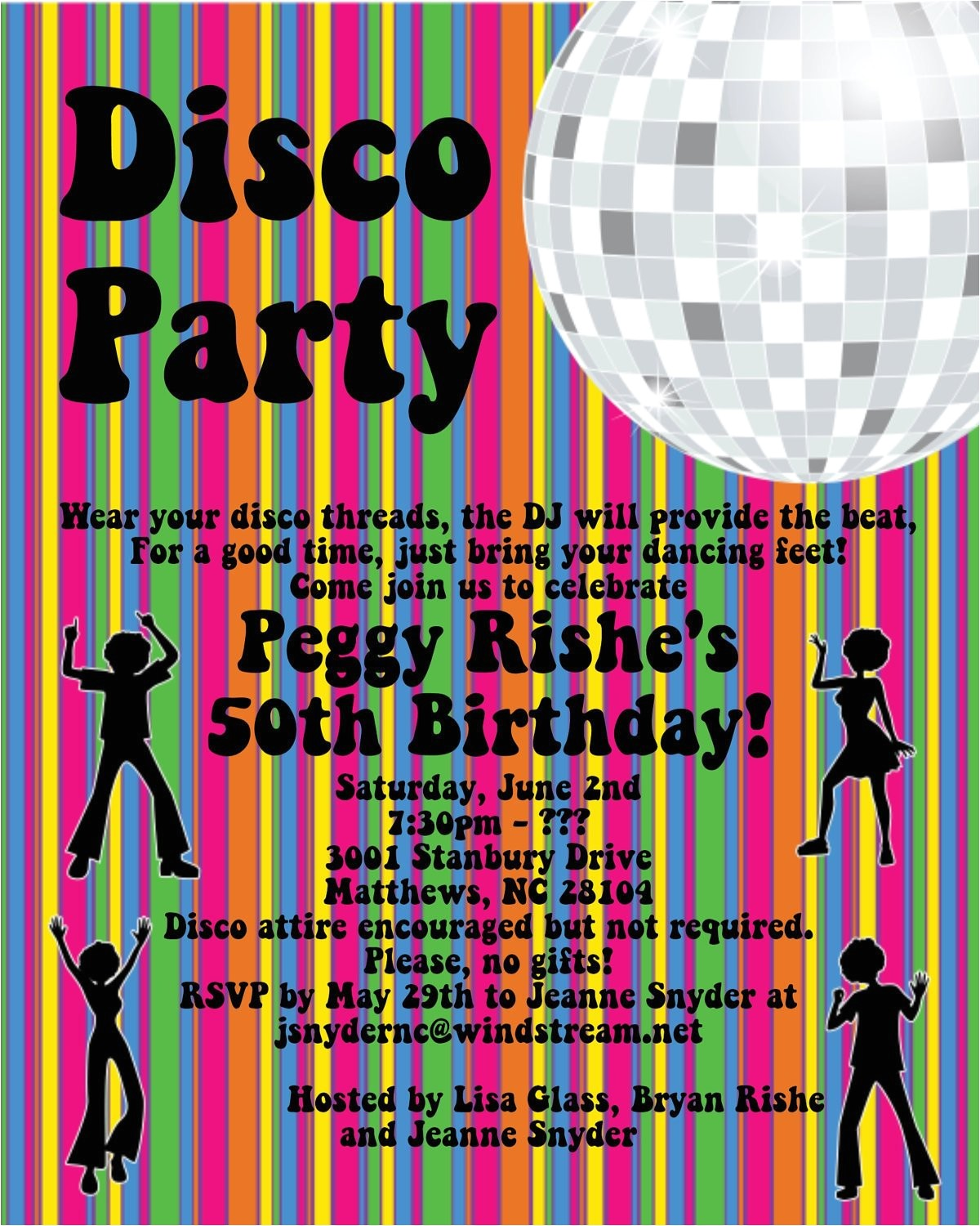 disco party invitations 70s disco dance