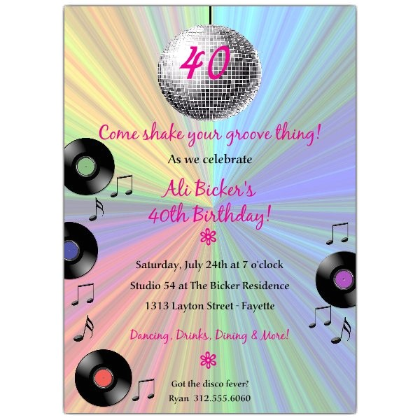 groovy disco ball birthday invitations p 606 57 dsc