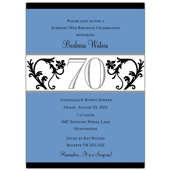 elegant vine chartreuse 70th birthday invitations p 604 57 evc70