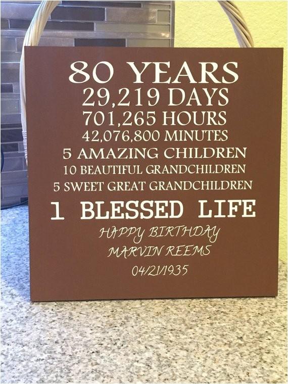 80 year old birthday
