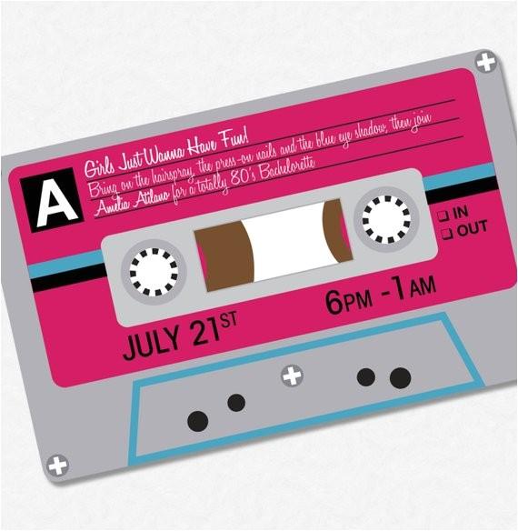 80s party invitation custom printable