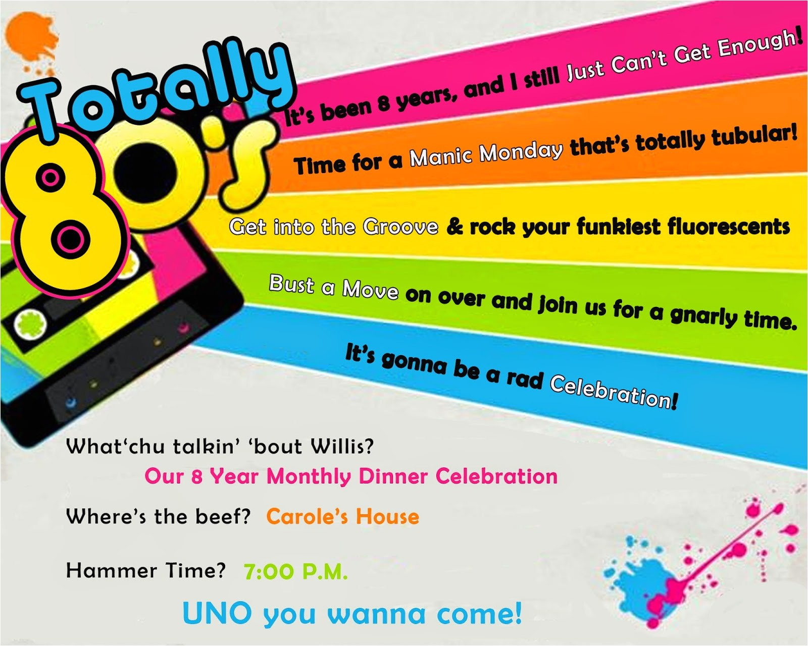 totally 80s party