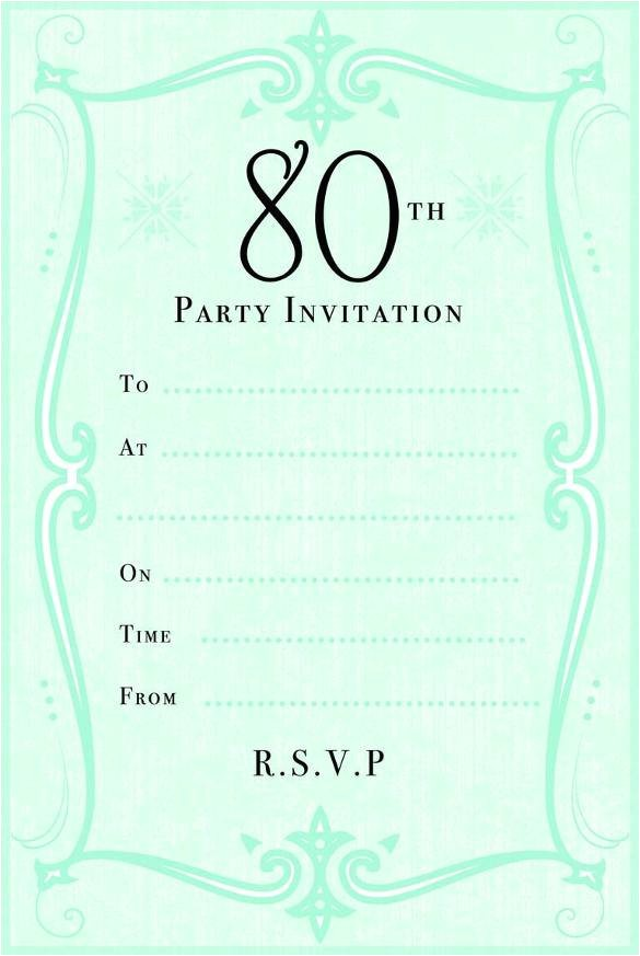 80th Birthday Party Invitations Templates 10 Sample Images 80th Birthday Party Invitations