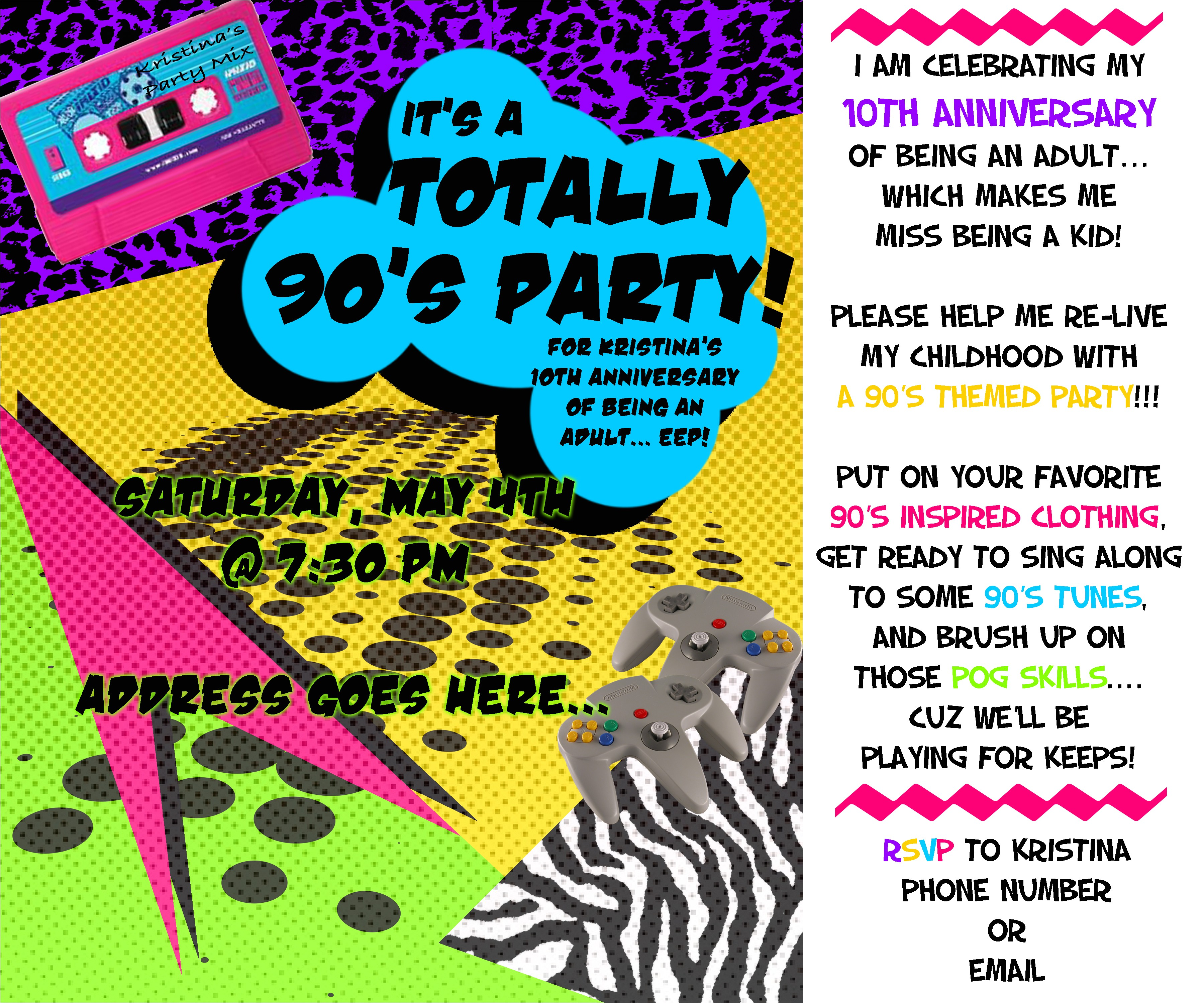 themed parties the 90s