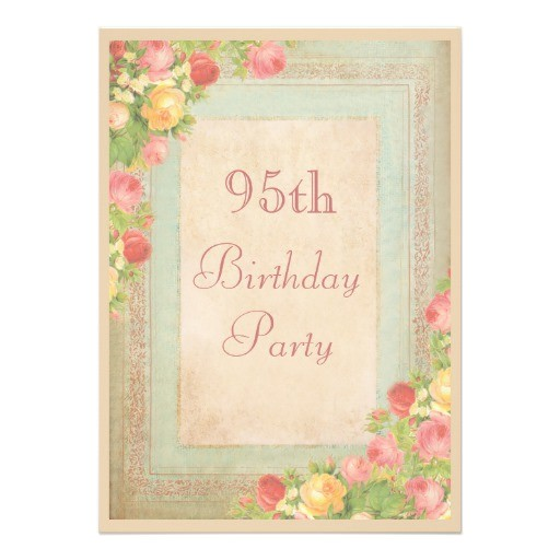 95th birthday invitations