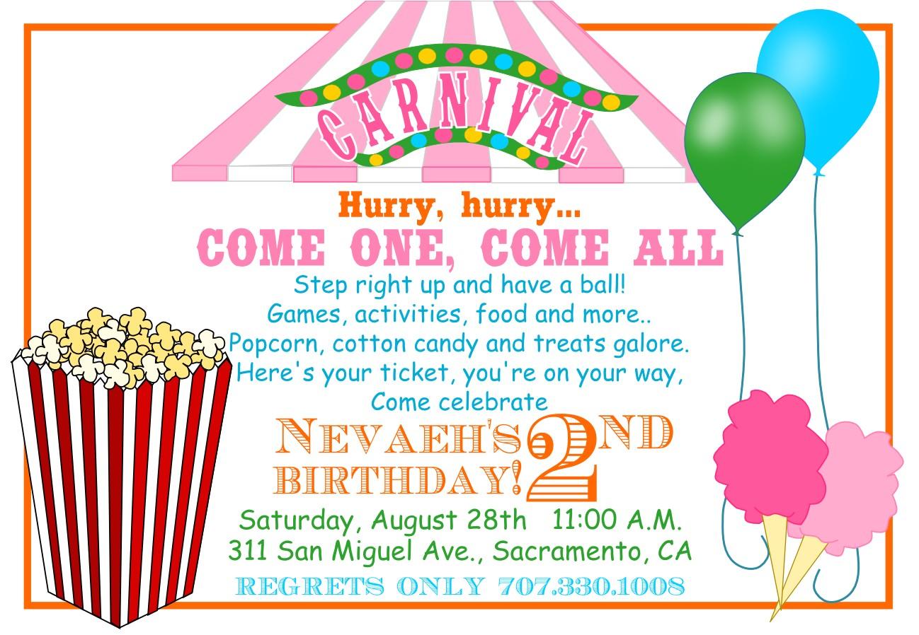 carnival invitations templates
