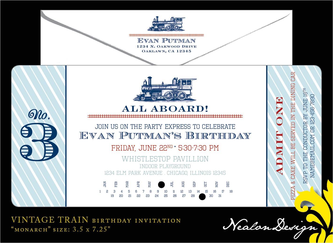 train invitation templates free