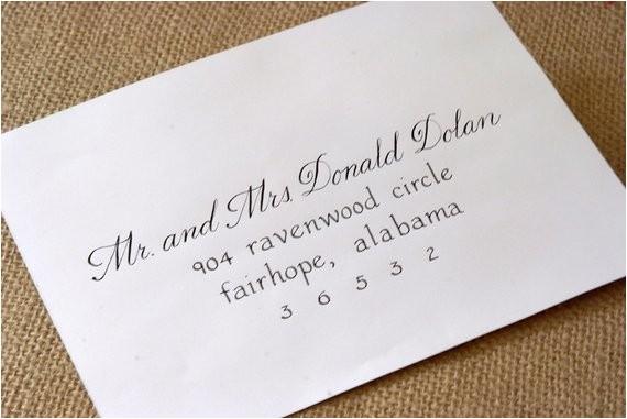 calligraphy envelope addressing for