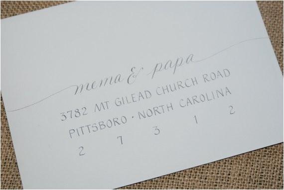 wedding invitation addressing hand