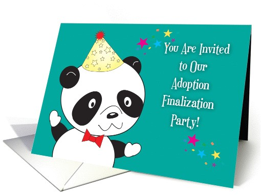 adoption finalization party invitations panda 1399102