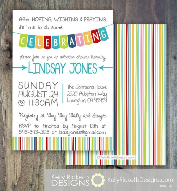 celebrate adoption invitation shower