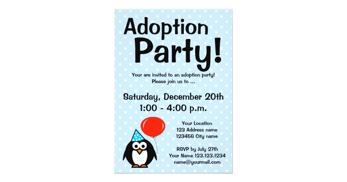 adoption announcement party invitations 161331939863926995