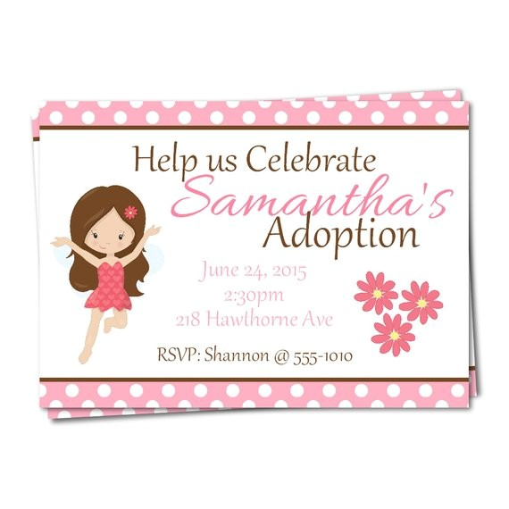 fairy adoption party invitations