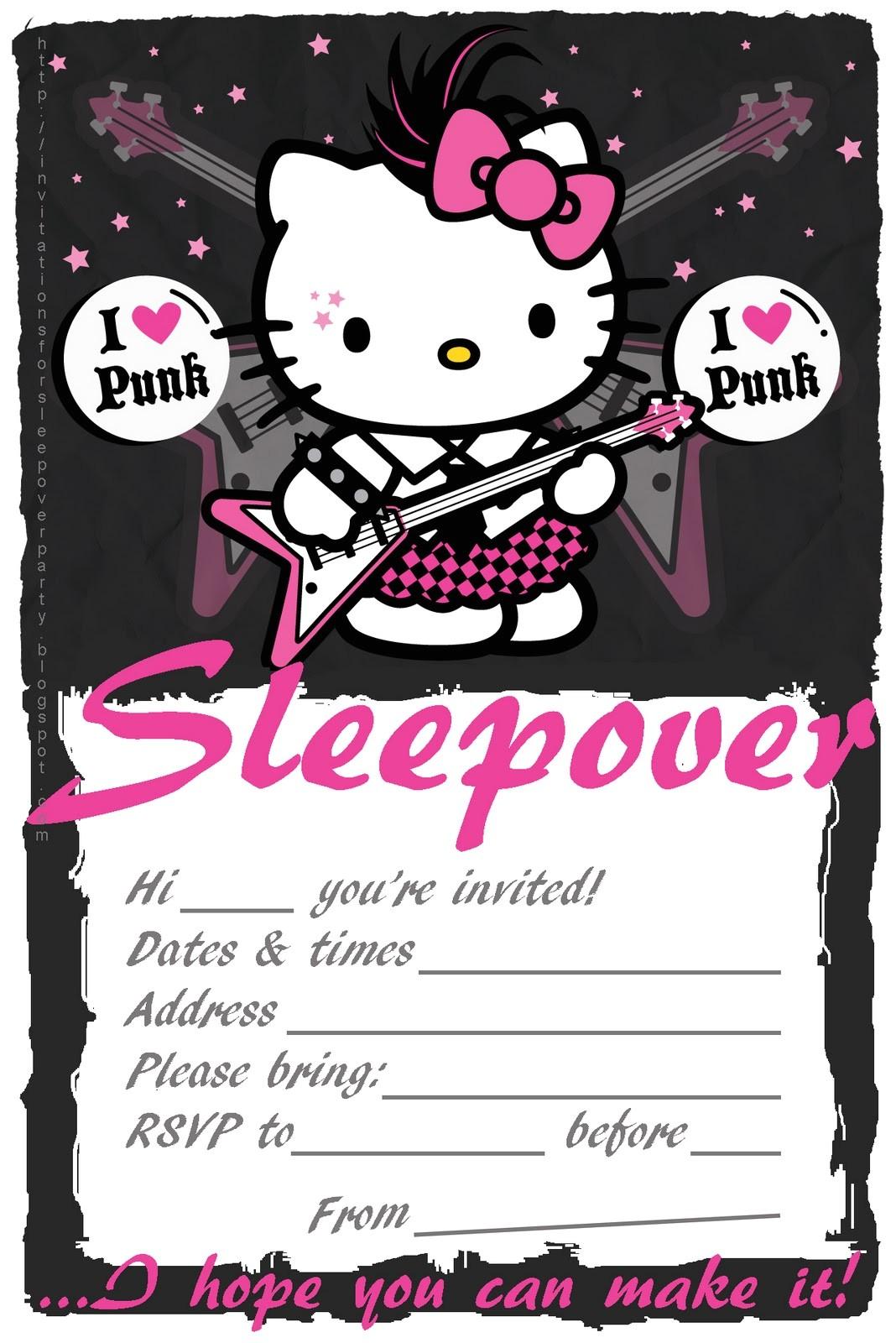 slumber party invitations