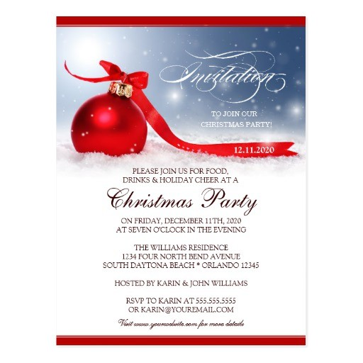 christmas party invitation postcard 239728553793697696
