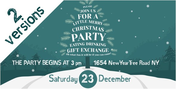 christmas party invitation holidays after effects templates