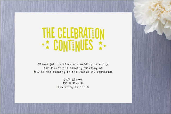 after party invitation wording