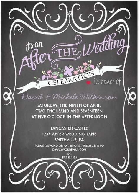 After the Wedding Party Invitations after Wedding Party Invitation Wording Cobypic Com