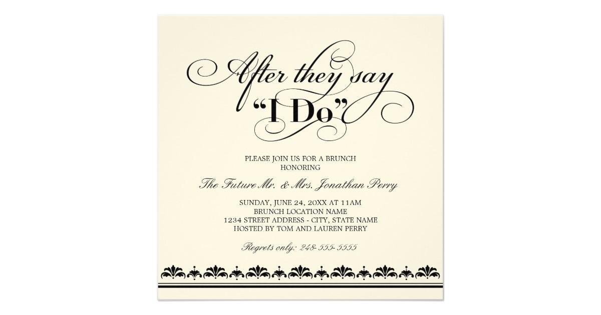 day after wedding bbq invitation wording
