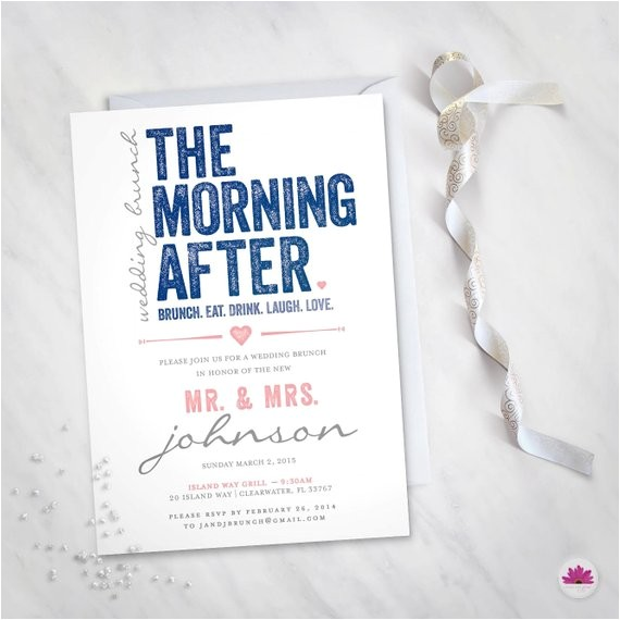 the morning after wedding brunch