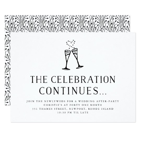wedding after party invitation insert card 256932689998364354