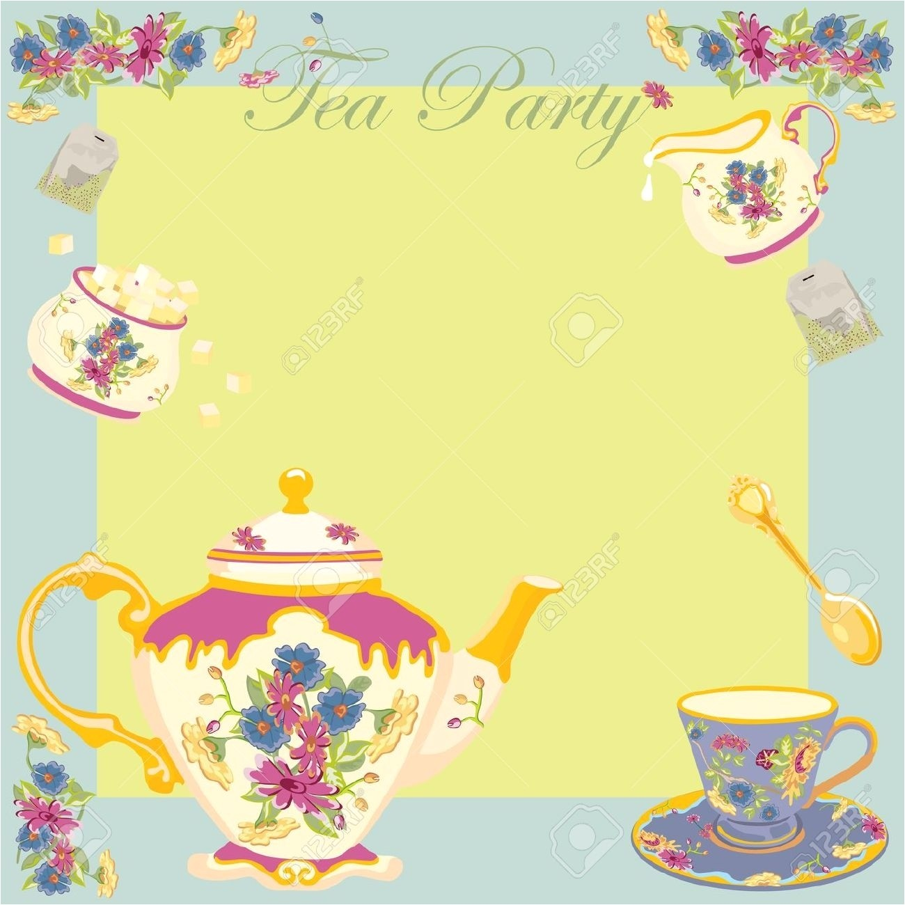 high tea invitation template template