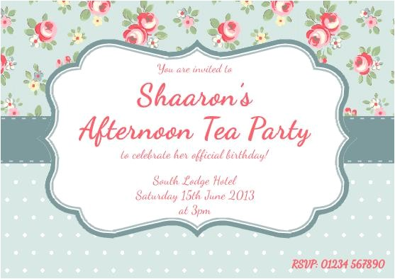 invitation high tea template