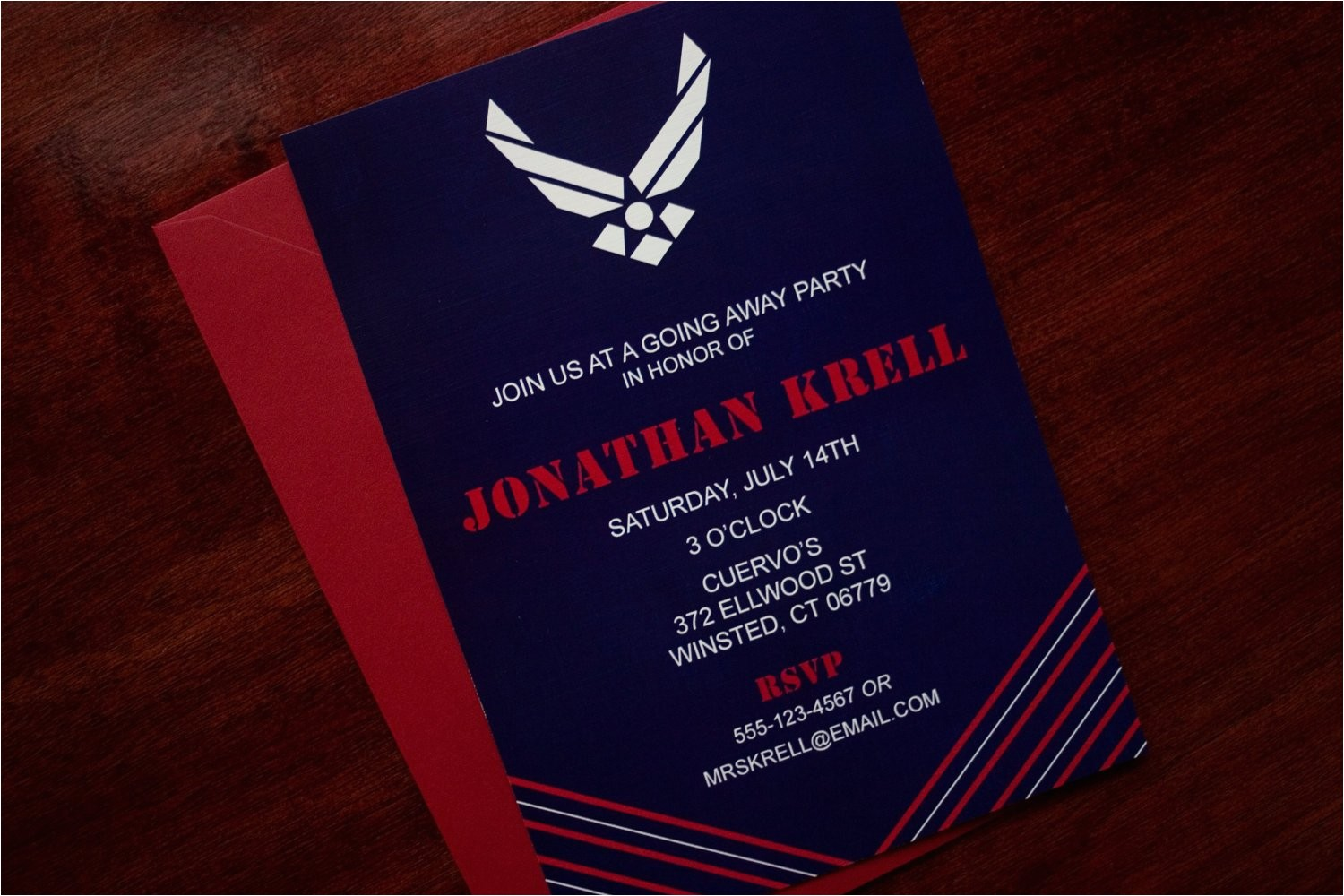 air force party invitation