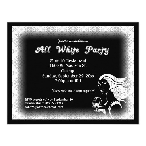 all white attire theme party invitation 161448363607499445