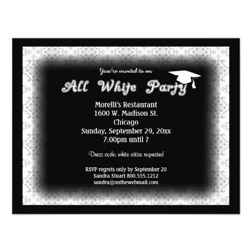 all white attire theme party invitation from zazzlecom