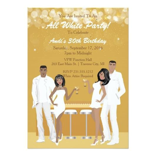236309 all white party invitation african american