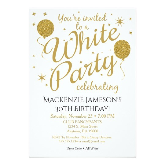 white party invitation all white party invite 256444023000047298