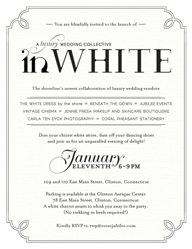 white party invitation wording