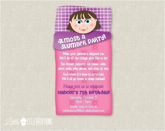 printable almost a slumber party