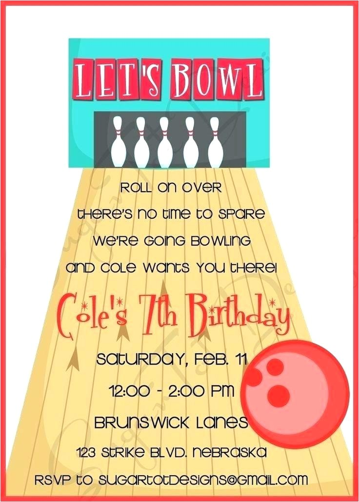 amf bowling birthday invitations red and blue invitation 1 large