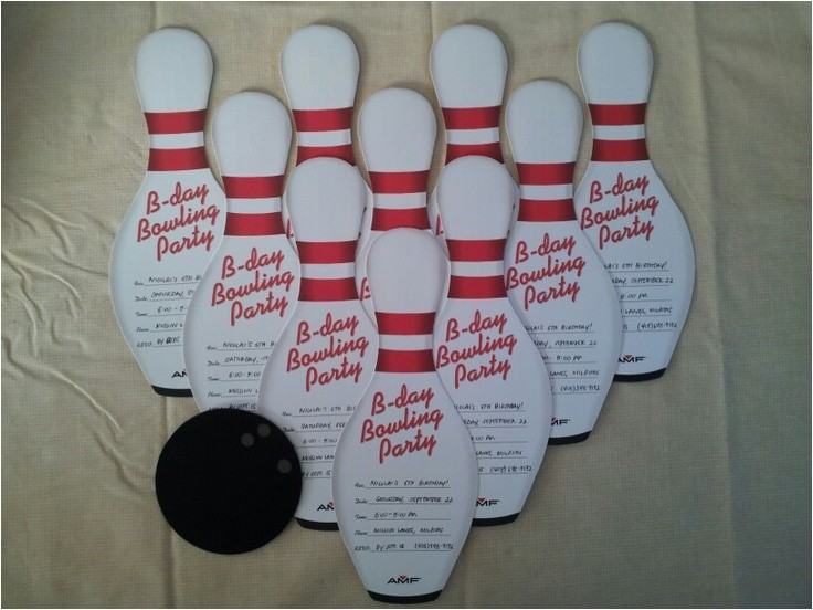 Amf Bowling Party Invitations Amf Party Invitations with Cricut Made Bowling Ball
