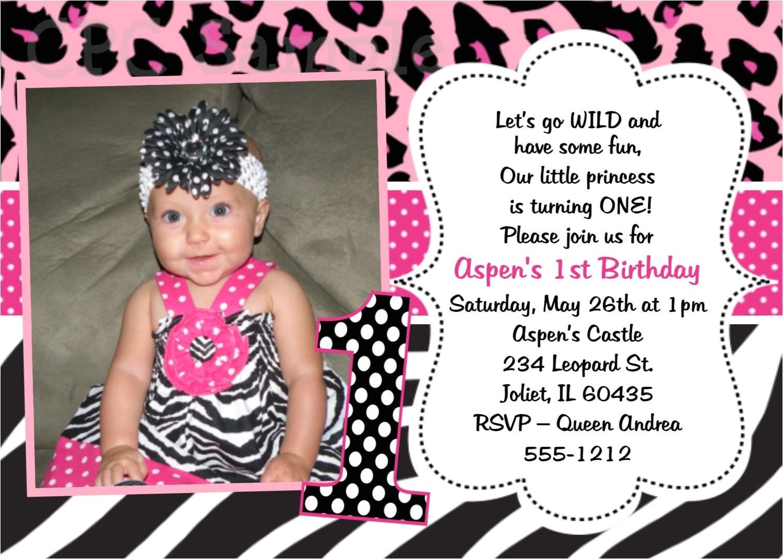 pink leopard zebra print 1st birthday