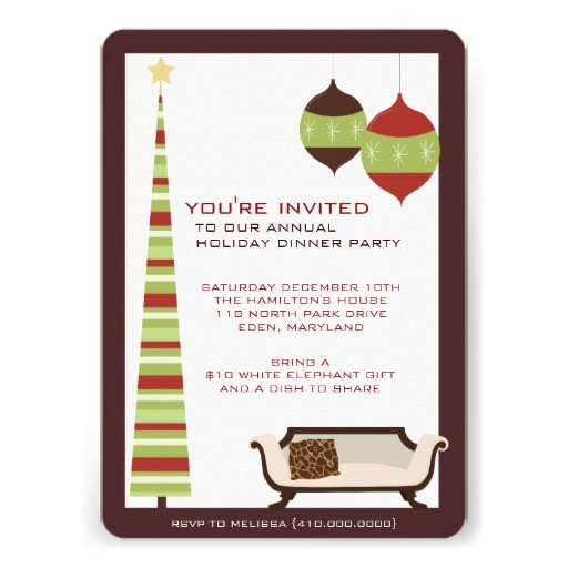 annual holiday dinner party invitations 161303281889019053