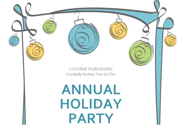 annual holiday party invitation with green theme